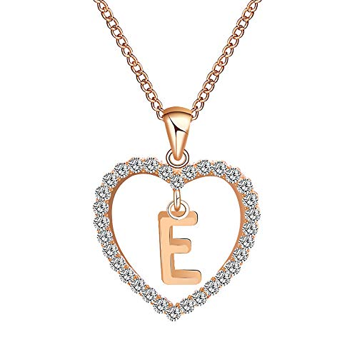 Gbell Fashion Girls Women A-Z Letters Necklaces Charms,26 English Alphabet Name Chain Pendant Necklaces Jewelry Birthday Gifts, Ideal for Party Costume,Wedding,Engagement (F) ()