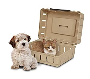 Dosckocil (Petmate) DDS21050 Cabin Kennel Solid Top Dog Carrier, Buff