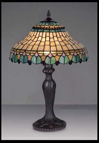 Attractive Peacock Stained Glass Tiffany Table Lamp