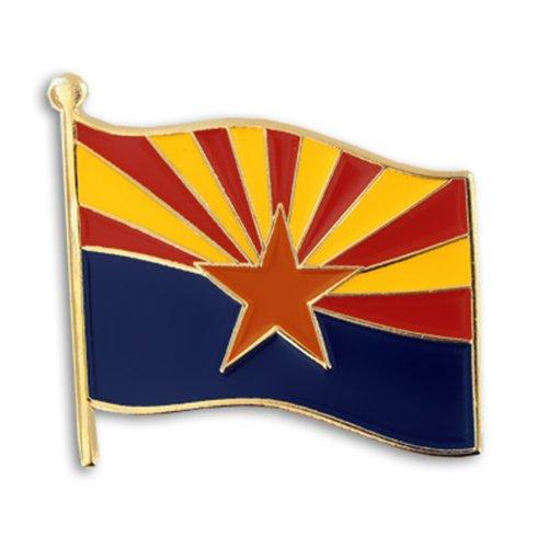 "PinMart Arizona US State Flag AZ Enamel Lapel Pin 1"""