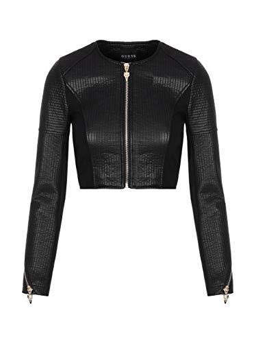 Sushiko Crop Jacket Noir Femme Manteau Guess RxzP0qwZq