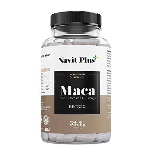 Maca andina capsulas con L-arginina, Zinc, Ginkgo y Vitamina B6   Código Nacional Farmacia 193338.6   Cápsulas vegetales   Aumenta nivel de energía y rendimiento deportivo   Tratamiento hasta 3 meses.