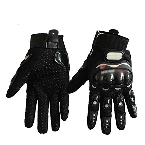 OPENDOORRED Cycling Gloves, Breathing Free Elastic Motorcycle Racing Gloves, Motorcycle Hard Knuckle Full Finger Gloves, Riding Protective Equipment,Black,XL