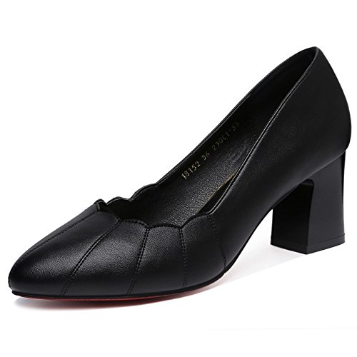 Spring Thick High Black Shoes Shoes New Heels Women'S Work High With Single Shoes Jqdyl With A heels Shoes Summer 6ESwqw