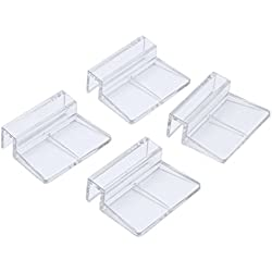Zeroyoyo 4pcs Transparent Aquarium Fish Tank Glass Cover Clip Support Holder, 8mm