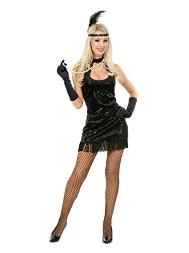 20's Flapper Adult Costume Black - (White Flapper Costumes)