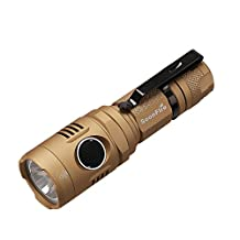 Rechargeable Flashlight:1000 LM Cree XP-L V3 LED An Effective Range of 237 Meters - Soonfire NS18 USB Rechargeable Waterproof Ultra Bright Flashlight (Gold)