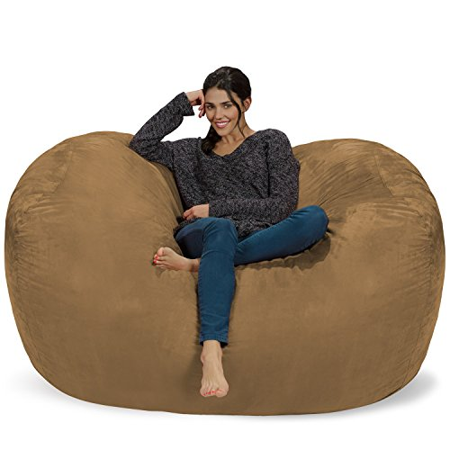 Chill Sack Bean Bag Chair: Huge 6' Memory Foam Furniture Bag and Large Lounger - Big Sofa with Soft Micro Fiber Cover - (Microfiber Bean Bag Chairs)