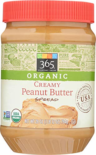 365 Everyday Value, Organic Creamy Peanut Butter, 28 oz