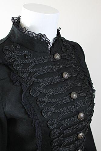 Mujer cola desfile Steampunk de amp; largo abrigo H R gótico 1xqApEwAa7