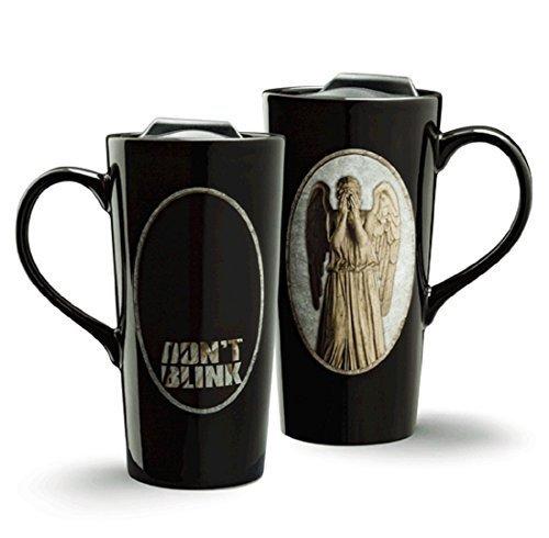 Doctor Who Weeping Angel Heat Change 20oz Ceramic Travel Mug by - Ceramic Travel Angel Mug
