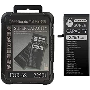 2250mAh Replacement Battery Compatible for iPhone 6S,Super Capacity Power UP Li-ion Battery with Repair Tool Kits Box[24 Months Warranty]
