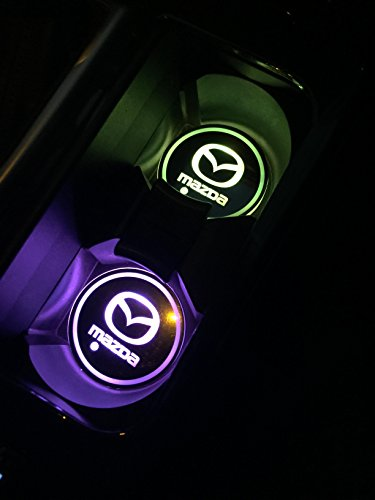 Car Logo Led Cup Pad Usb Charging Mat Luminescent Cup Pad Led Mat Interior Atmosphere Lamp Decoration Light  Mazda