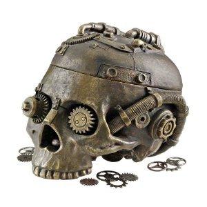Classic Gothic Steampunk Head Statue Jewelry Treasure Box...