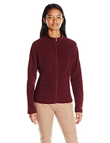 Classroom Uniforms Junior Fitted Polar Fleece Jacket, Burgundy, Small (Fitted Jacket Juniors)