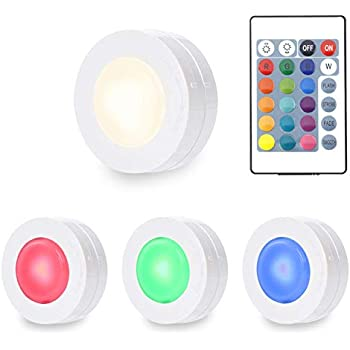 Lunsy Under Cabinet Lighting Color Changing Rgbw Puck