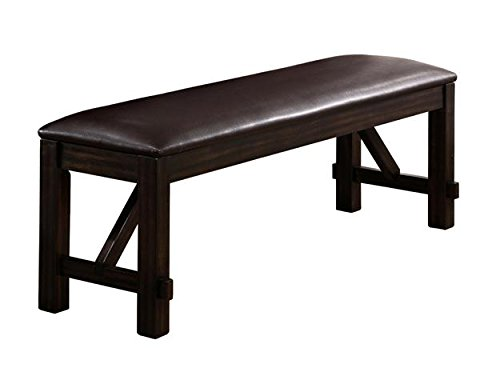 Havana Bench (Brand New 60''x17''x20''h Havana Rubber wood construction Bench with PU Seat Cushion)