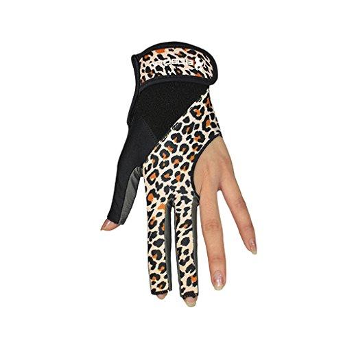 Topker BOODUN Breathable Soft Anti-slip Sports Cue Billiard Pool Ball Shooters 3 Fingers Single Lycra Gloves