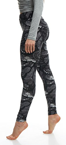LMB Lush Moda Extra Soft Leggings with Designs- 505YF Floral Abstract Yoga by LMB (Image #7)