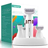 VOYOR Electric Shaver for Women Bikini Trimmer Hair Remover for Face Body, 5 in 1 Groomer Kit Lady Shaver Razor for Hair Trimmer, Cordless Rechargeable Waterproof ES500