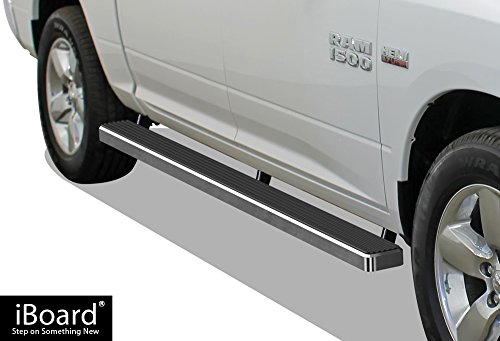 APS iBoard Running Boards (Nerf Bars | Side Steps | Step Bars) for 2009-2018 Ram 1500 Crew Cab Pickup 4Dr (Incl. 2019 Ram 1500 Classic)& 2010-2019 Ram 2500/3500 | (Silver ()