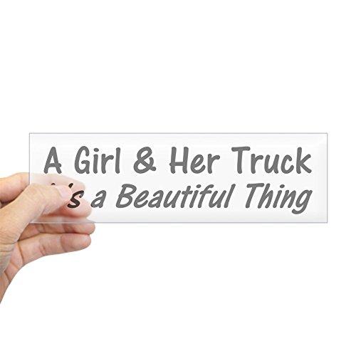 CafePress - A Girl And Her Truck Bumper Sticker - 10