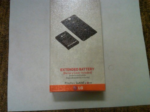 OEM LG Lucid VS840 Extended Battery with Battery Cover Verizon Retail Package