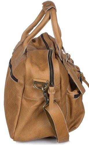 Cowboy sbag piel unisex–The Bag (44x 28x 19cm), colores: marrón (Light camel)