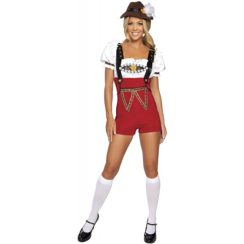 Beer Stein Babe Costume - Small/Medium - Dress Size 2-6 (Adult Gretel Costume)