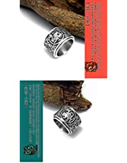 Personality Fashion Rotatable Titanium Steel Rings Of Male Jewelry Size US11