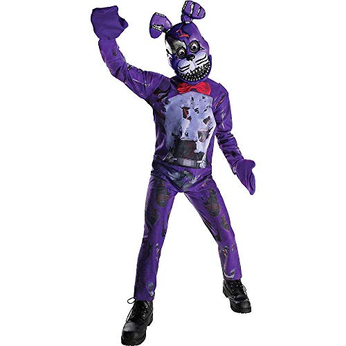 HalloCostume Videogame Costumes Compatible with Five Nights at Freddy's Boys Nightmare Bonnie Costume - Five Nights at Freddy's ()