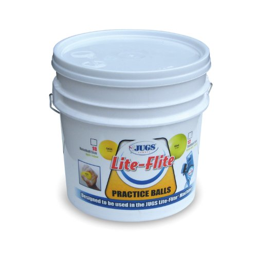Jugs Lite-Flite Baseballs with Bucket by Jugs