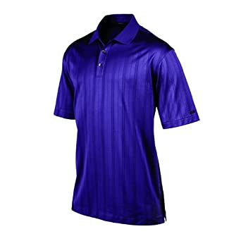 NIKE Mens Tiger Woods Collection Dri-FIT Drop-Needle Stripe Polo