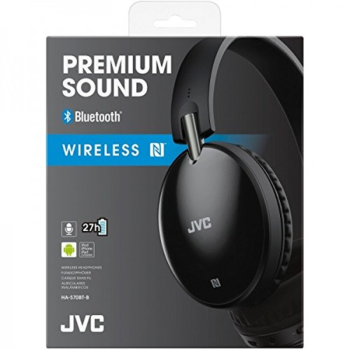 JVC HAS70BTBE BLACK Premium Sound Bluetooth Around Ear Headphones