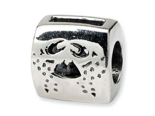 Reflections Sterling Silver Cancer Zodiac Antiqued Bead / Charm