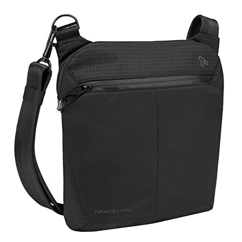 Travelon Anti-Theft Active Small Crossbody, Black by Travelon
