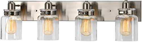 Luxury Modern Farmhouse Bathroom Vanity Light, Large Size: 8.625