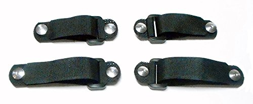 Binding System Patented (No Tie Shoe Laces - Replace-A-Lace: Hook & Loop Strap Closure System for Shoes Large Black)
