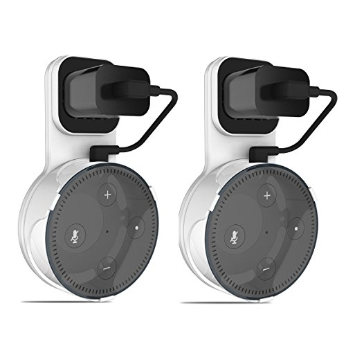 Price comparison product image Outlet Wall Mount Holder Stand Hanger for Alexa Echo Dot 2nd Generation (2pcs, White)