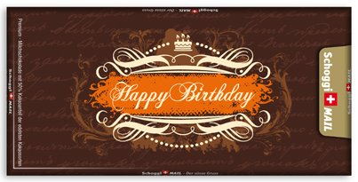 Greeting Card Premium Swiss Chocolate Birthday Card Happy – Chocolate Birthday Cards