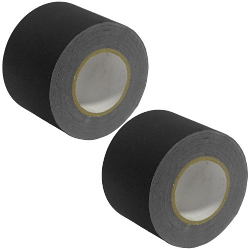 Seismic Audio - SeismicTape-Black604-2Pack - 2 Pack of 4 Inch Black Gaffer's Tape - 60 yards per (4in Cable Tape)