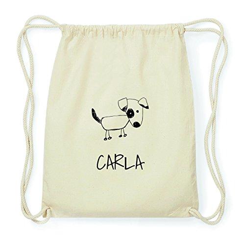 JOllipets CARLA Hipster Turnbeutel Tasche Rucksack aus Baumwolle Design: Hund