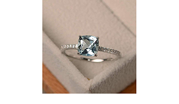 Reduced: SET of 3 dainty rings in 925 silver square square cc-72 sapphire look diamonds pav\u00e9 with crystal cushion emerald ruby