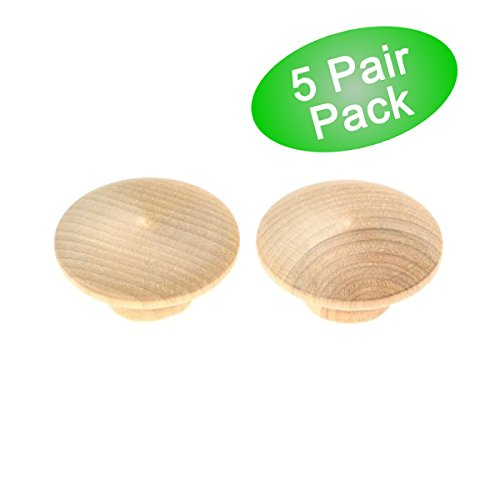 Amerock BP814WD Solid Birch Oversized Unfinished Wood Wooden Bifold Bi-Fold Door / Cabinet Hardware Knob - 2