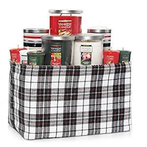 Yankee Candle LARGE Plaid Christmas Gift Set with Sugared Apple, SPARKLING CINNAMON, and Christmas Thyme (Gift Baskets Yankee Candle)