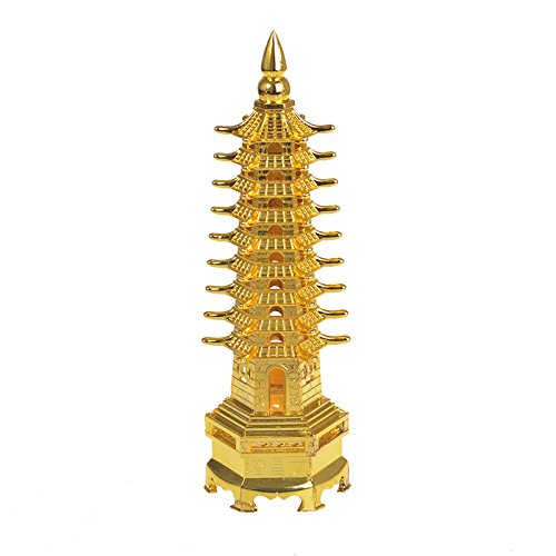 Daptsy Chinese Traditional Wen Chang Tower, Metal Chinese Culture Tower Crafts,Good for Adult Career & Children Study, Chinese Classical Mascot, Office& Home Artwork