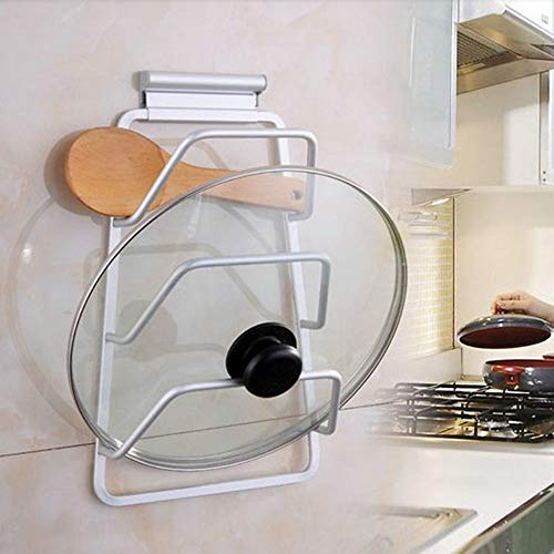 Taco Mocho Cabinet Door Hook Pan Pot Cover Lid Rack Stand Stove Organizer Kitchen Storage Holder Rack Shelf Kitchen Accessories 3-Layers by Taco Mocho (Image #3)