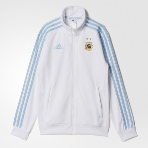 Adidas Soccer Youth Argentina Track Top, White/Argentina Blue, (Argentina Adult Soccer Jersey)