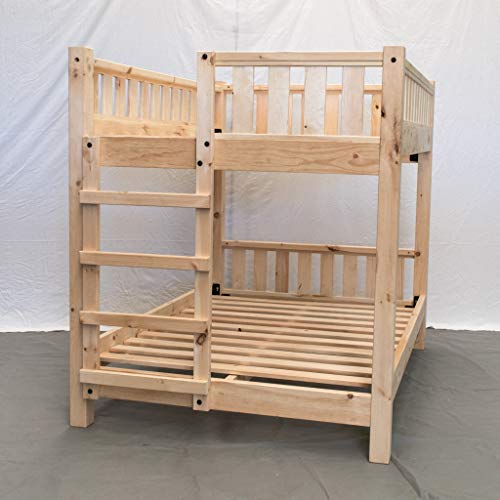 (Unfinished Farmhouse Bunk Bed - Twin/Twin/Traditional Bunk Bed/Wood Reclaimed Bunk Bed/Modern/Urban/Cottage Bunk Bed)