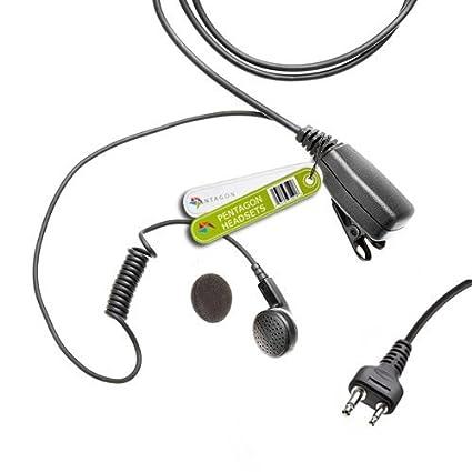 Adaptador para conectar ICOM 2/Pin Auricular para Motorola 1/Pin Radio: TLKR XTR PMR Talkabout